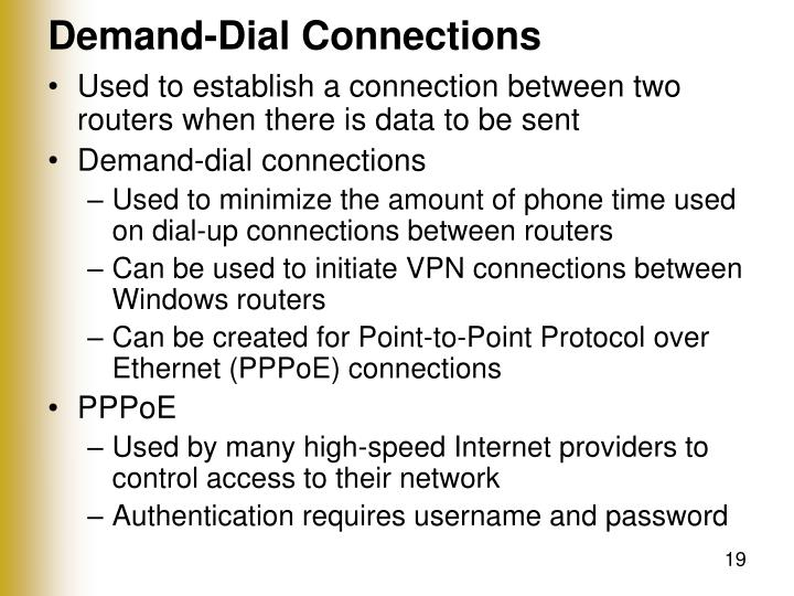 Demand-Dial Connections