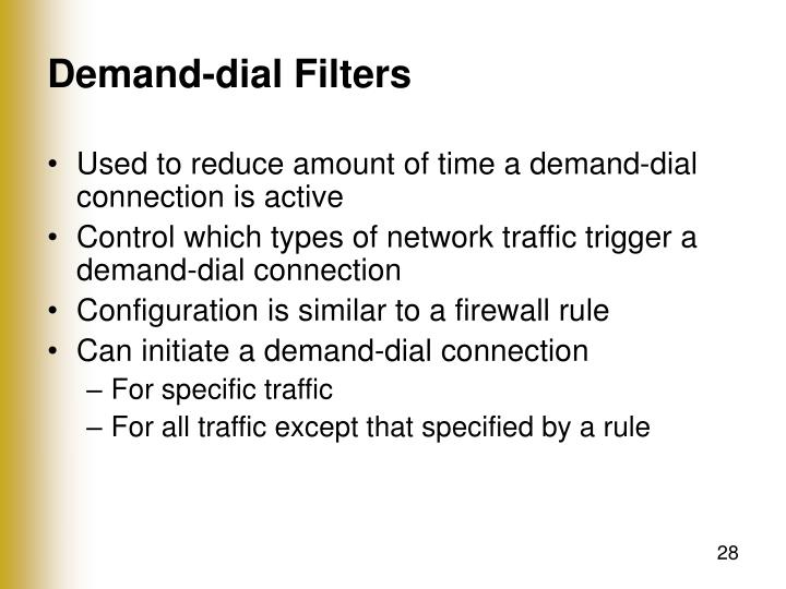 Demand-dial Filters
