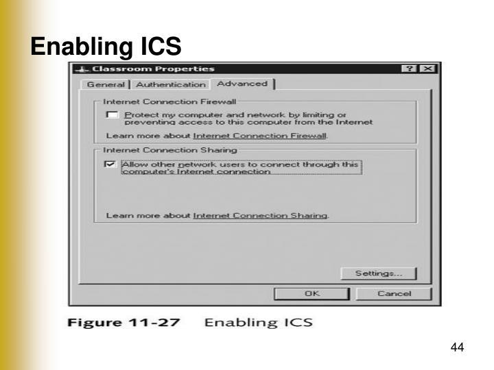Enabling ICS