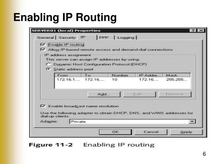 Enabling IP Routing
