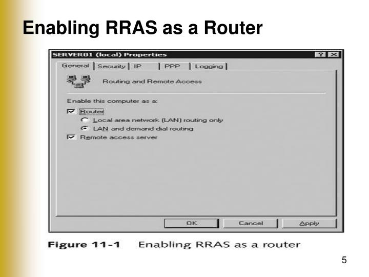 Enabling RRAS as a Router