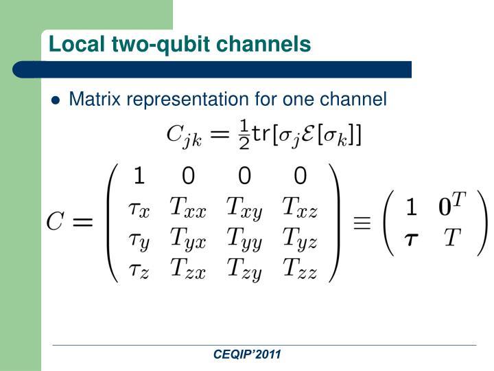 Local two-qubit channels