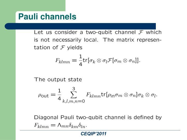 Pauli channels