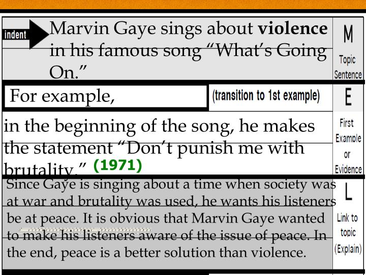Marvin Gaye sings about