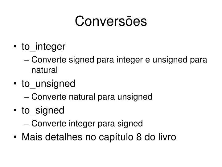 Conversões