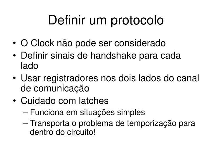Definir um protocolo