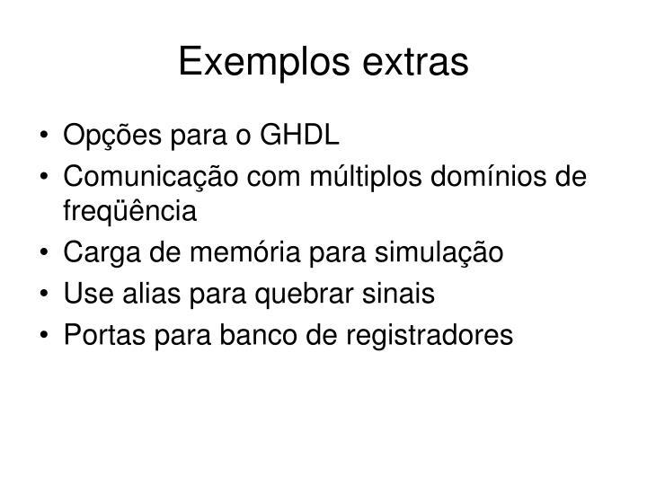 Exemplos extras