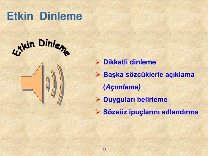 Etkin  Dinleme