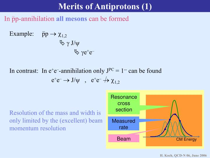 Merits of Antiprotons (1)