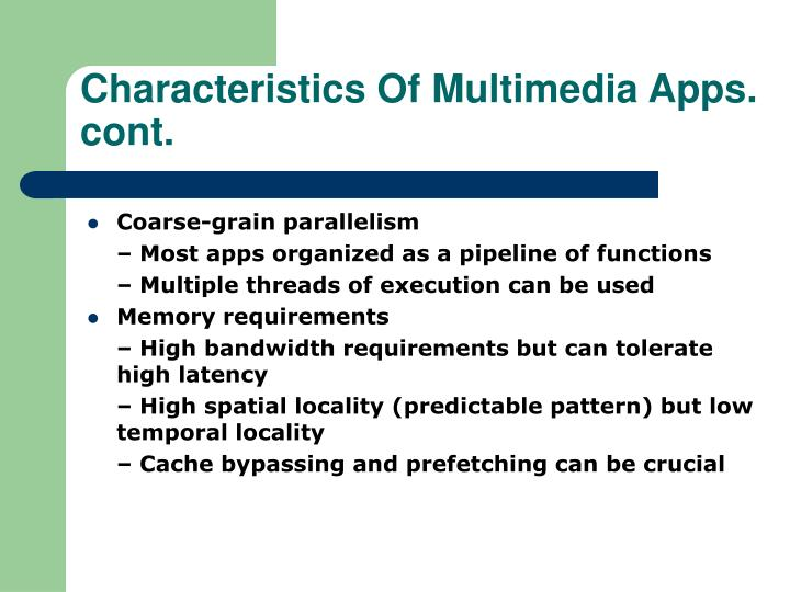 Characteristics Of Multimedia Apps.