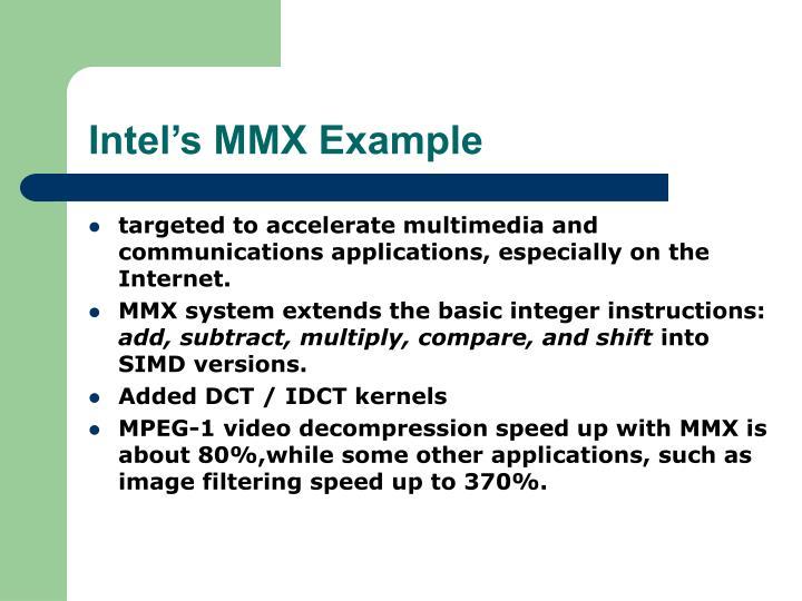 Intel's MMX Example
