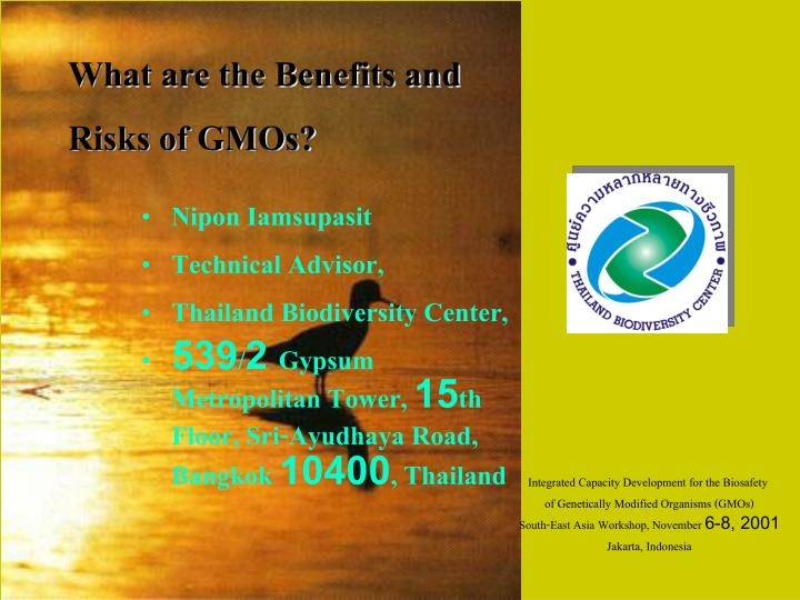 the benefits and risks of genetically modified organisms Although genetically modified organisms (gmos) are controversial, they have a few advantages the following points will help you understand gmos: heav.