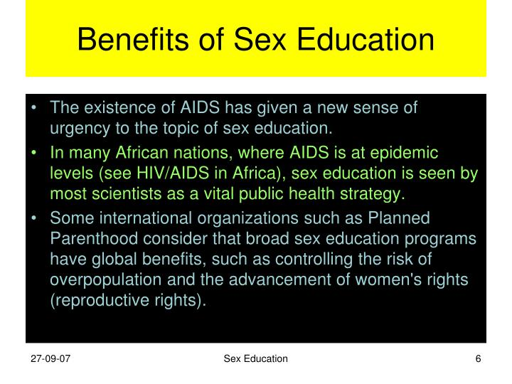 The benefits of sex edeucation courses