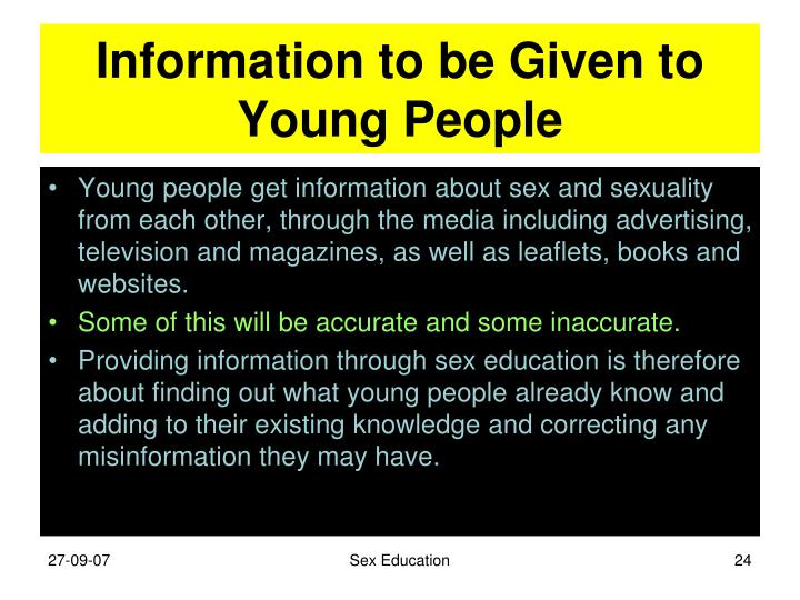 Information to be Given to Young People
