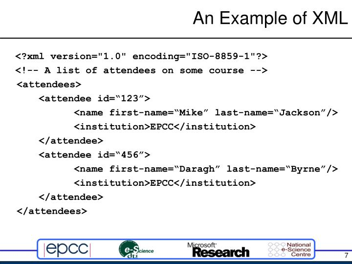 An Example of XML