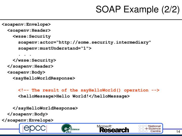 SOAP Example (2/2)