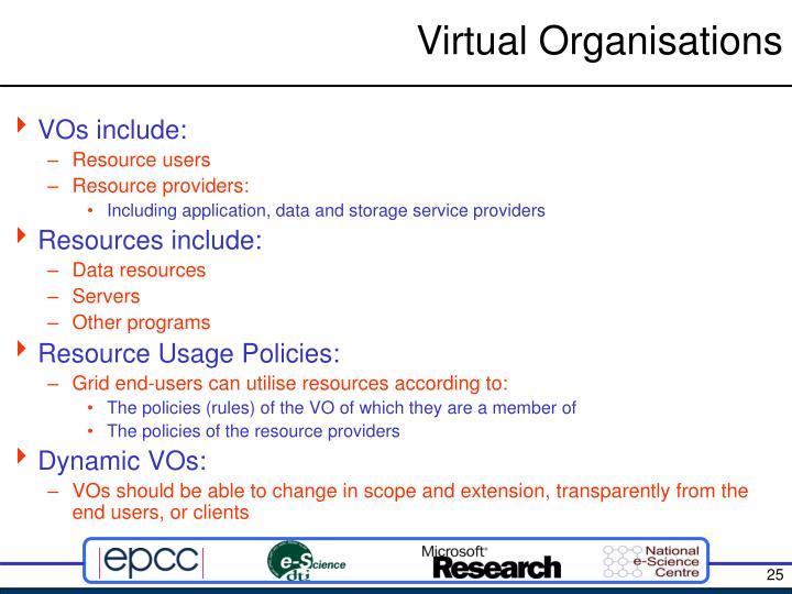 Virtual Organisations