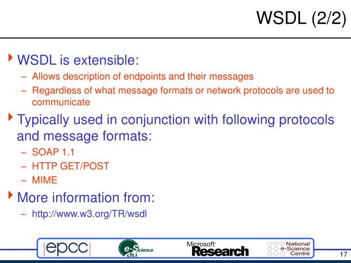 WSDL (2/2)