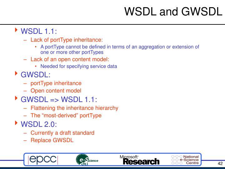 WSDL and GWSDL