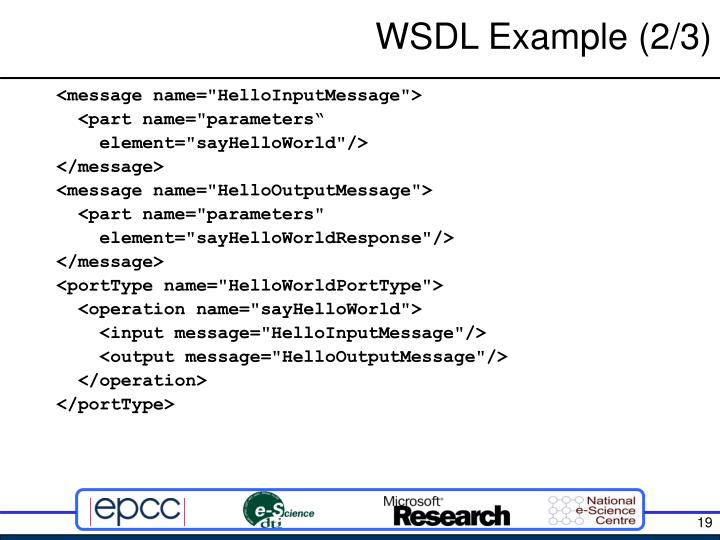 WSDL Example (2/3)