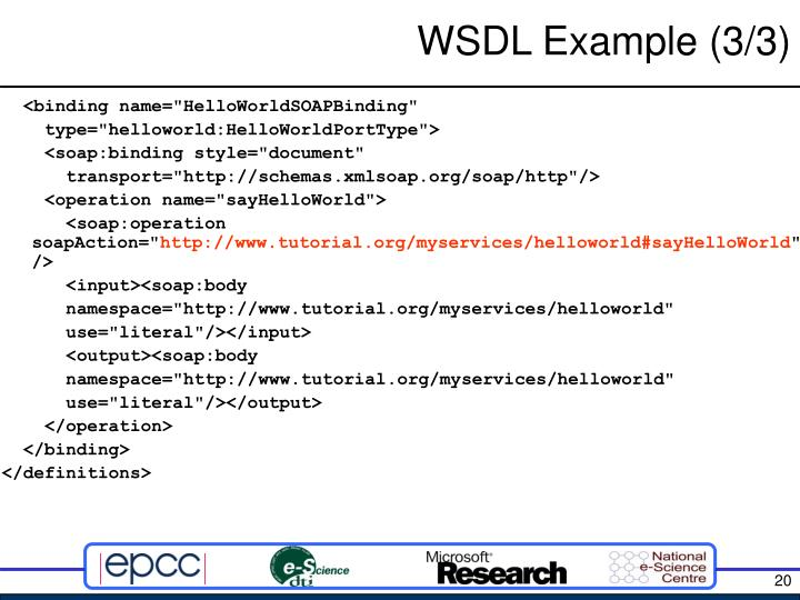 WSDL Example (3/3)