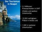 der tourismus in neapel