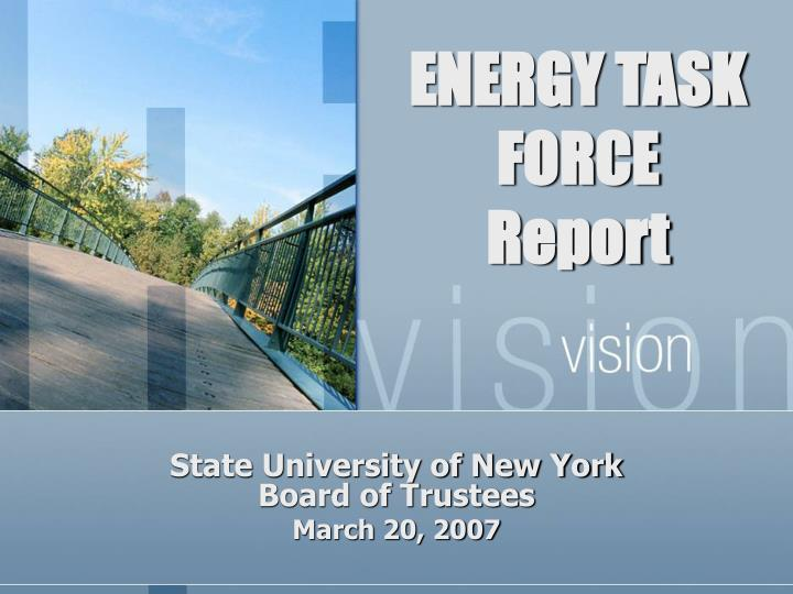 Energy task force report
