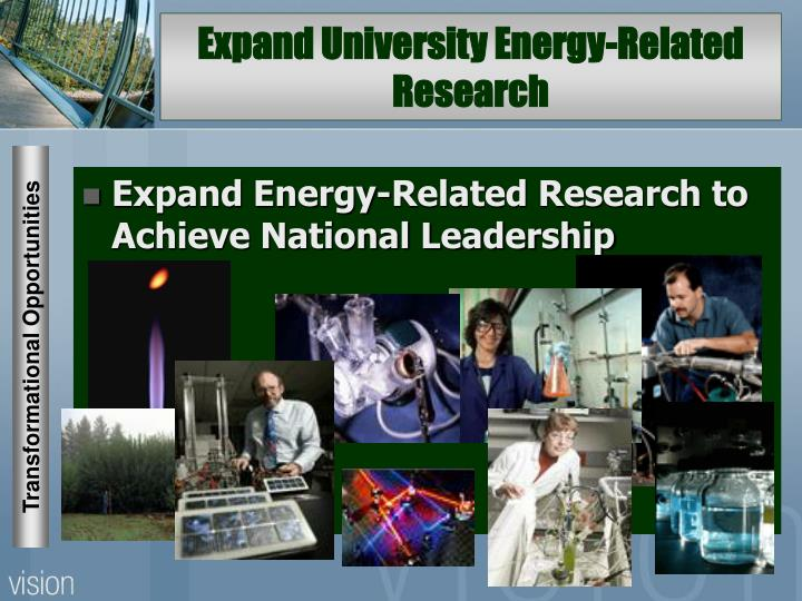 Expand University Energy-Related Research