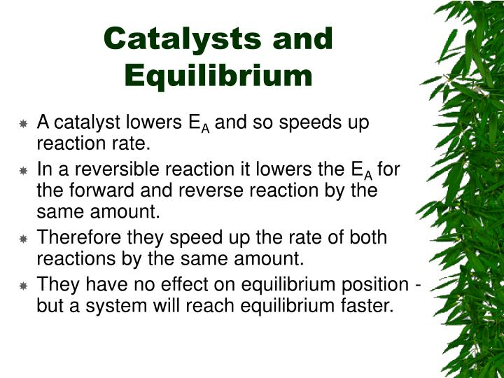 Catalysts and Equilibrium
