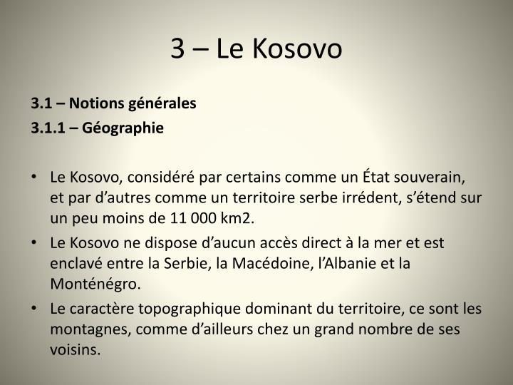 3 le kosovo