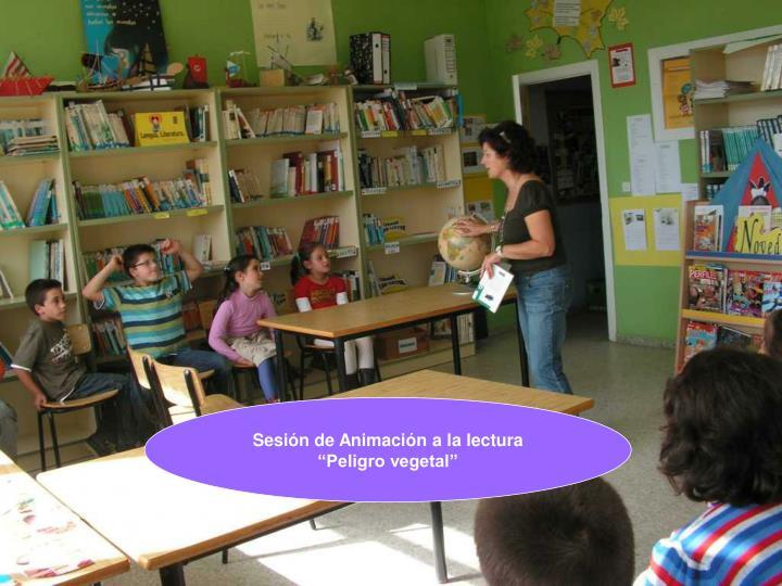 Sesión de Animación a la lectura