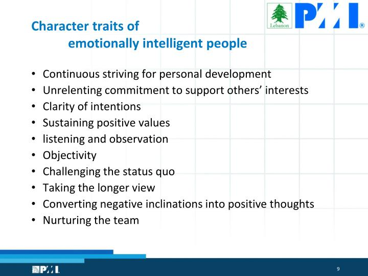 Character traits of