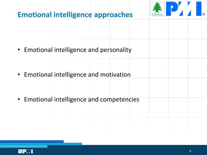 Emotional intelligence approaches