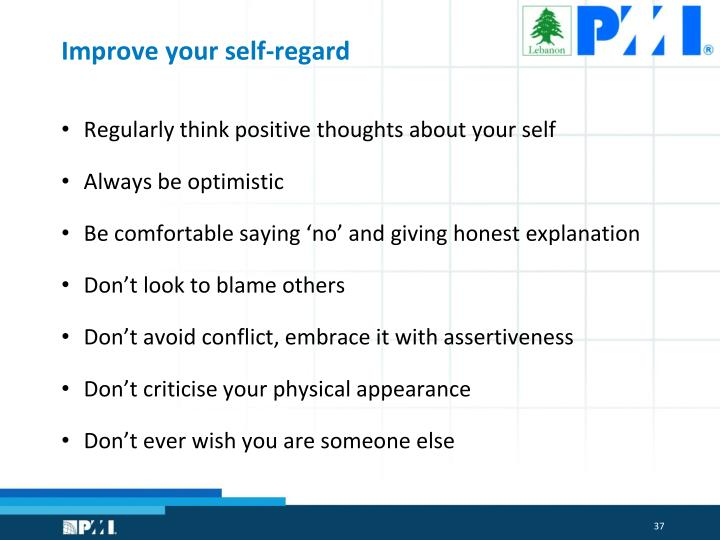 Improve your self-regard