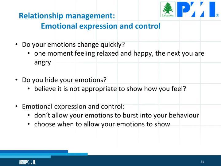 Relationship management: