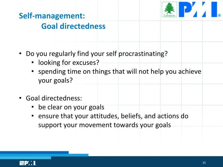 Self-management: