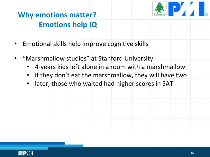 Why emotions matter?