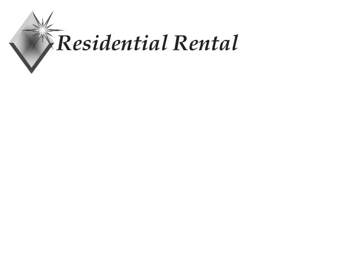 Residential Rental