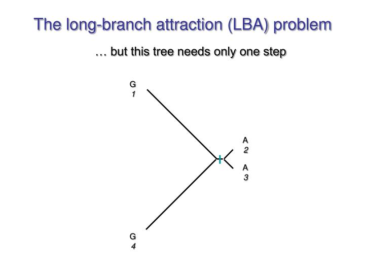 The long-branch attraction (LBA) problem