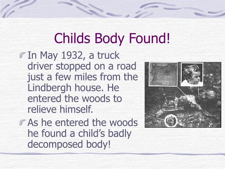 Childs Body Found!