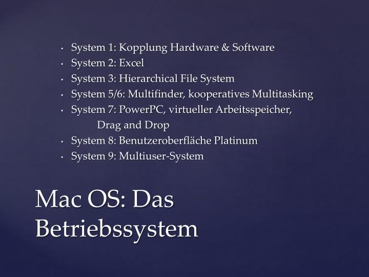 System 1: Kopplung Hardware & Software