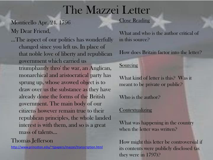 The Mazzei Letter