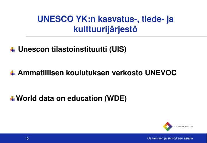 UNESCO YK:n kasvatus-, tiede- ja kulttuurijärjestö