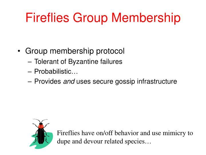 Fireflies Group Membership