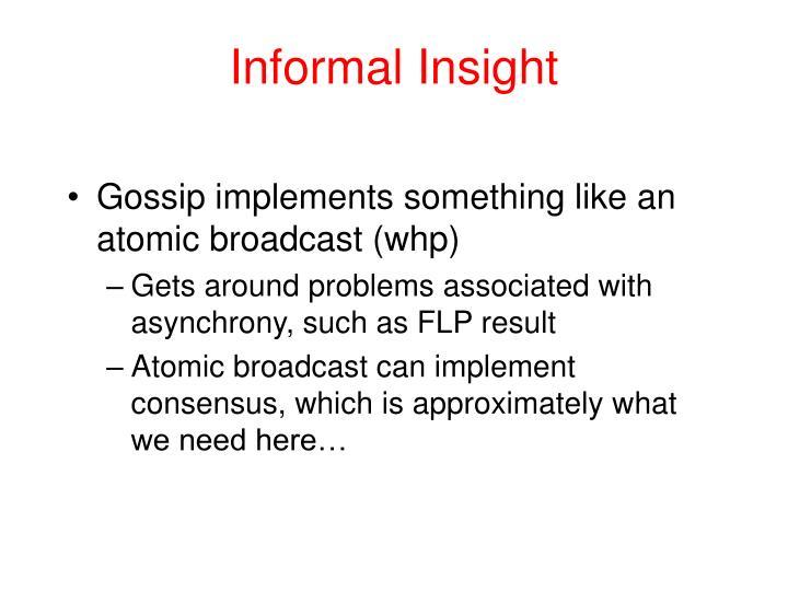 Informal Insight