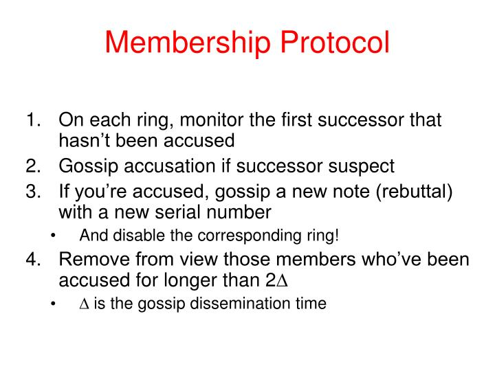 Membership Protocol