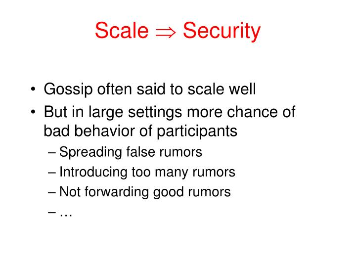 Scale security