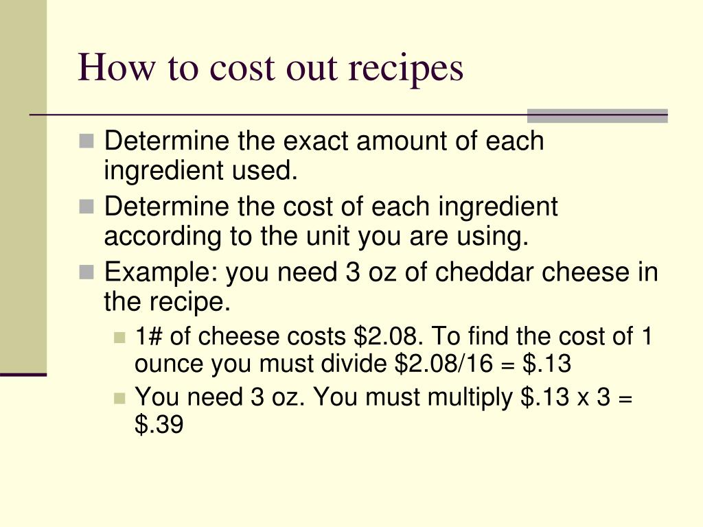Ppt Food Cost Powerpoint Presentation Free Download Id 6999831