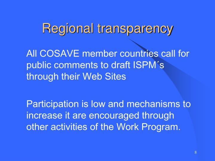 Regional transparency