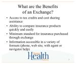 what are the benefits of an exchange